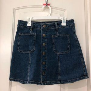 Altard state blue jean skirt